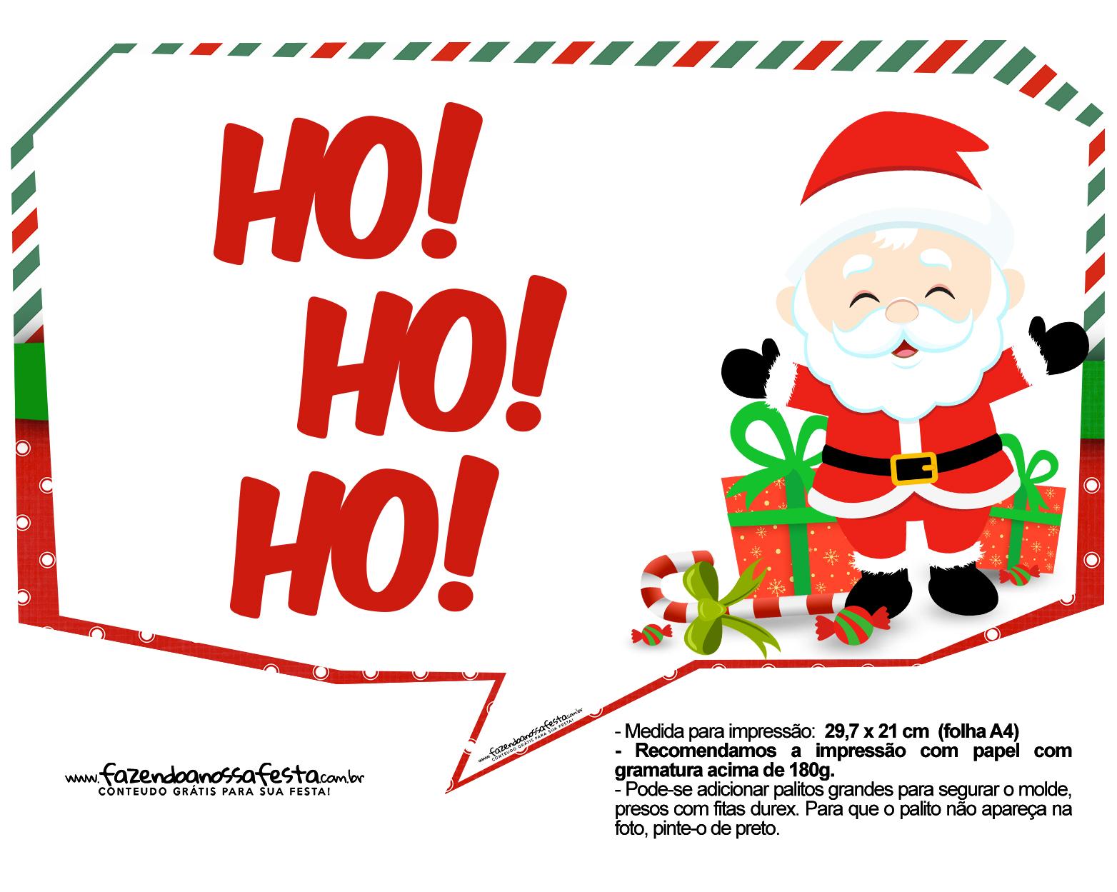 Plaquinhas Natal Papai Noel 1