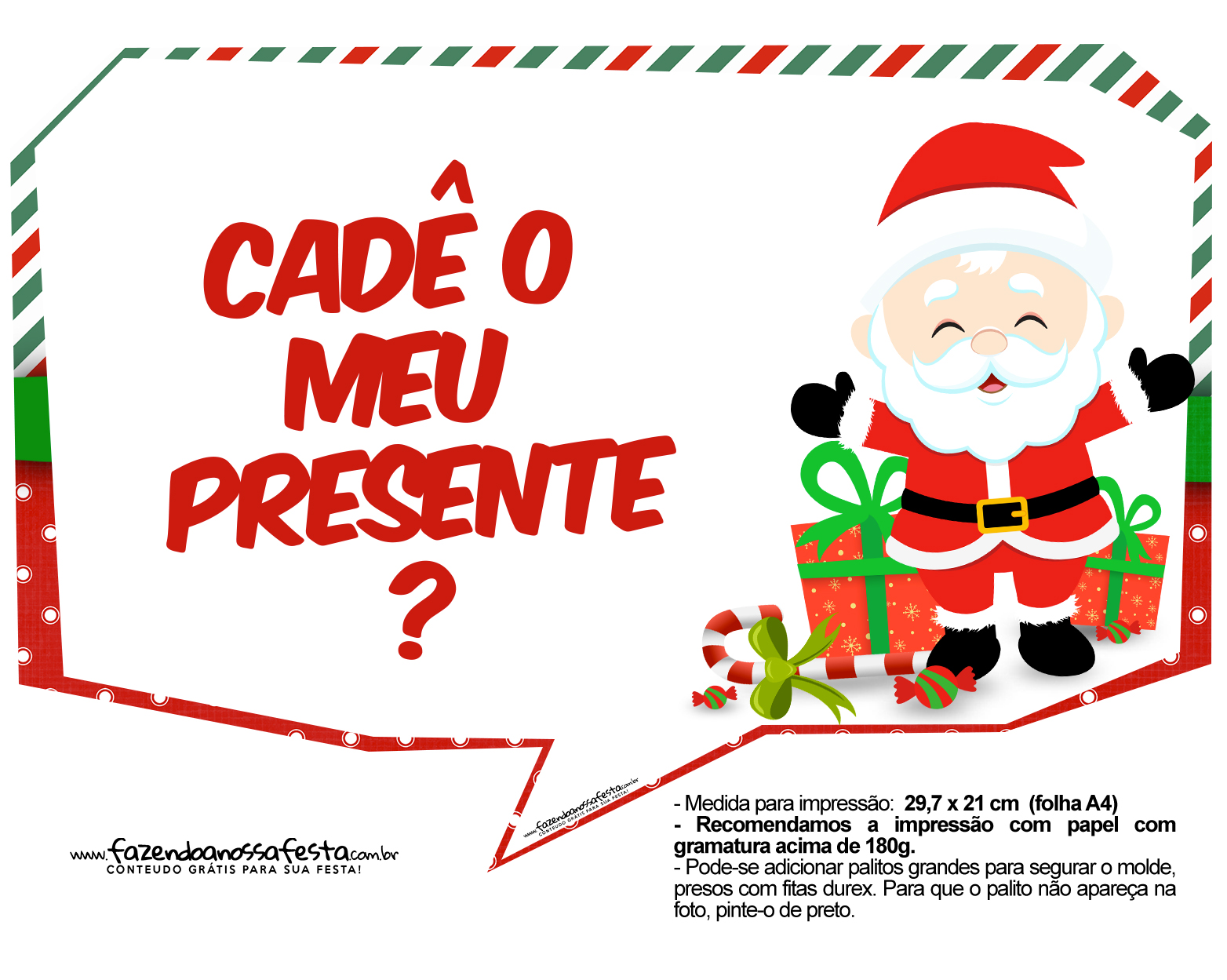 Plaquinhas Natal Papai Noel 3