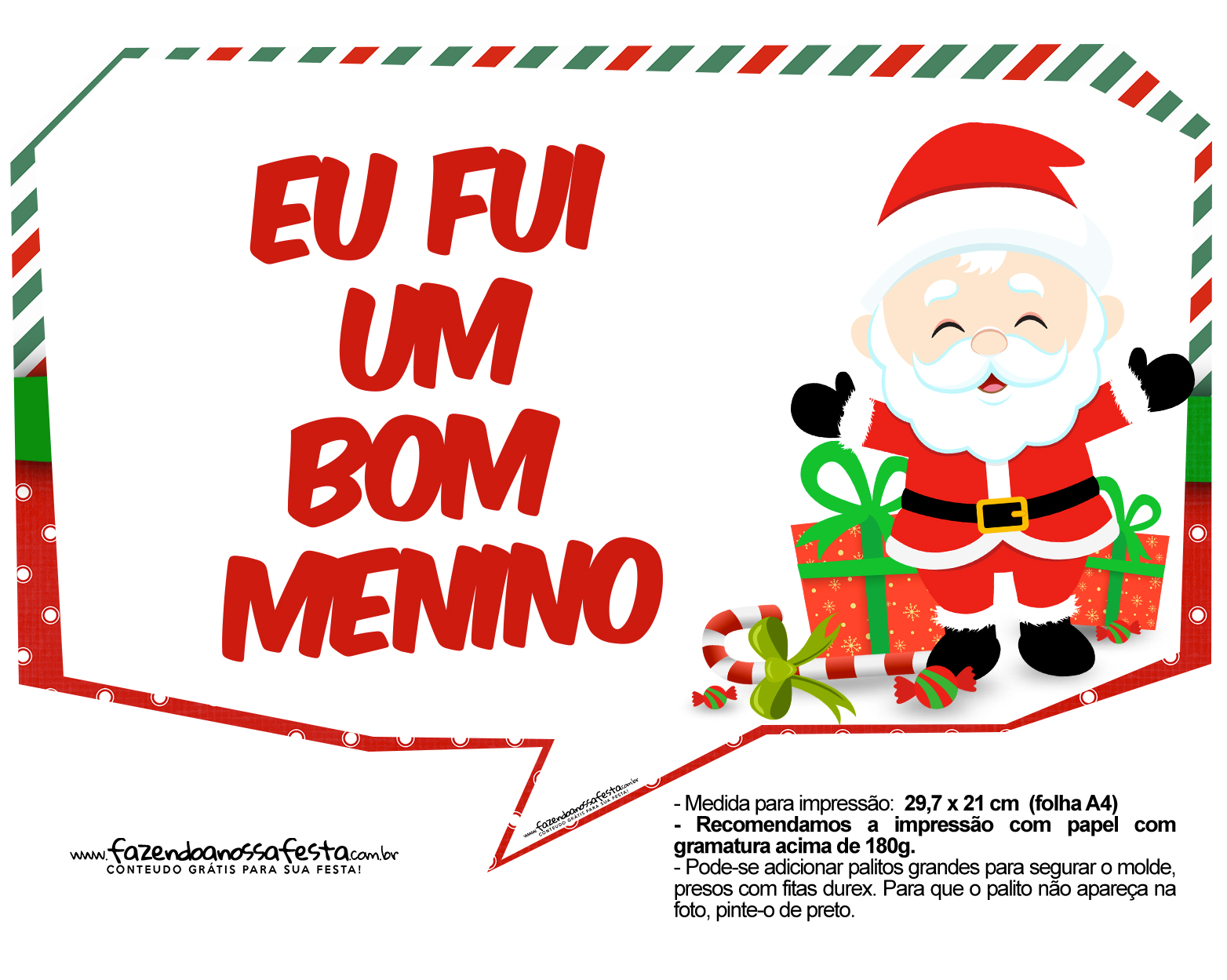 Plaquinhas Natal Papai Noel 4