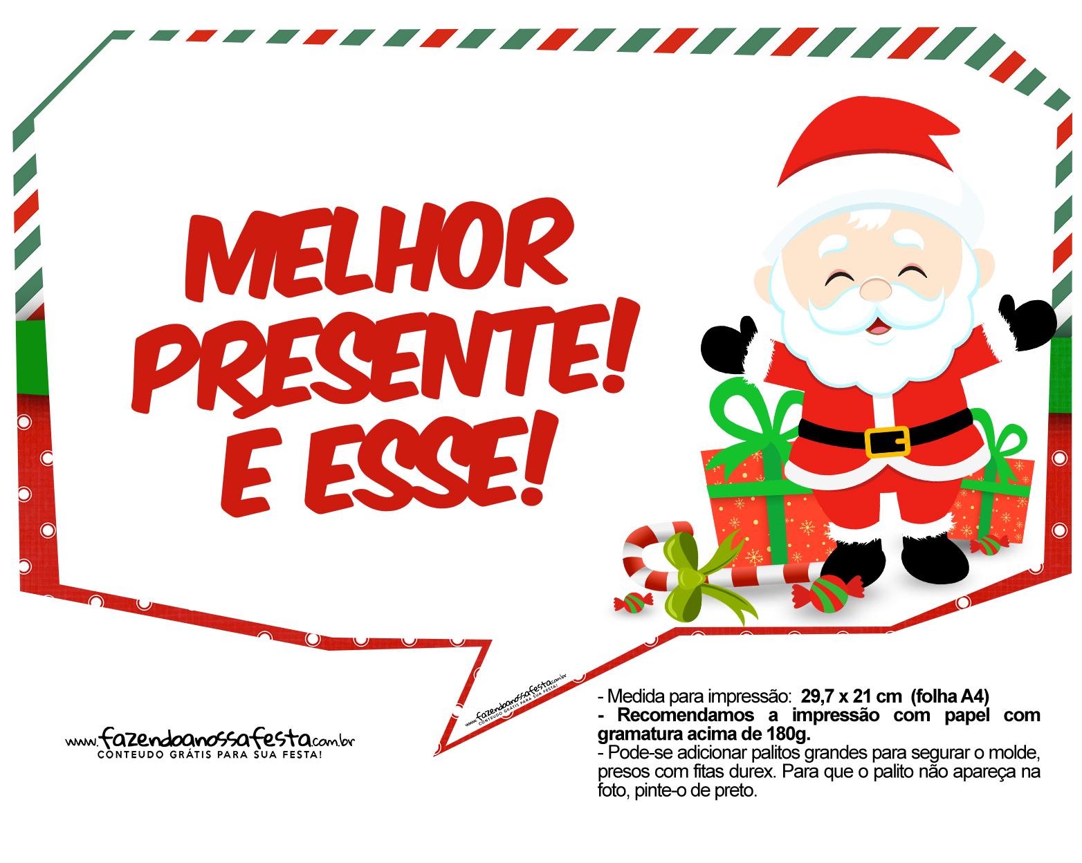 Plaquinhas Natal Papai Noel 08
