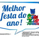 Plaquinhas Divertidas PJ Masks 1