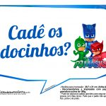 Plaquinhas Divertidas PJ Masks 2