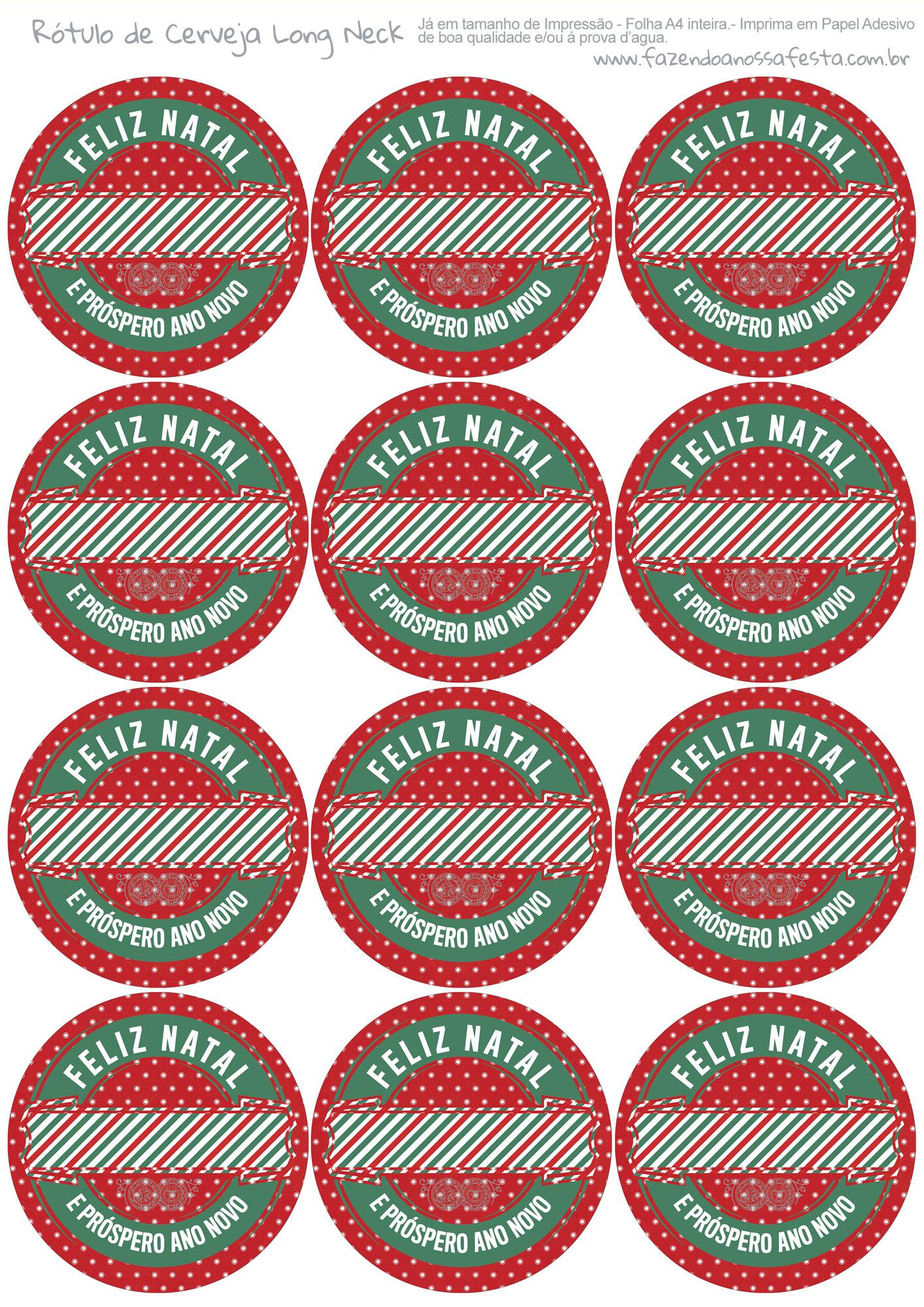 Rótulo Personalizado Cerveja de Natal 7