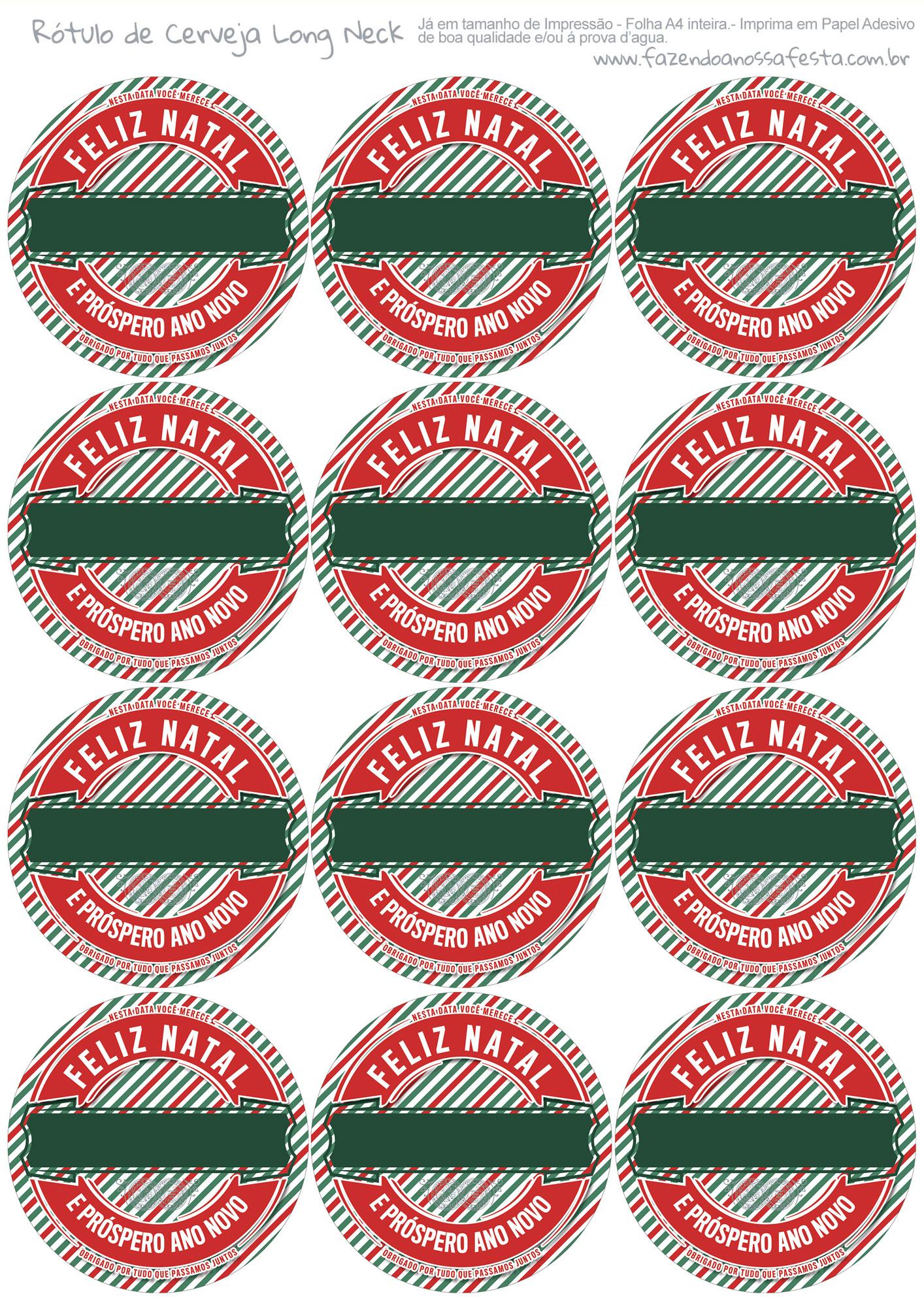 Rótulo Personalizado Cerveja de Natal 9