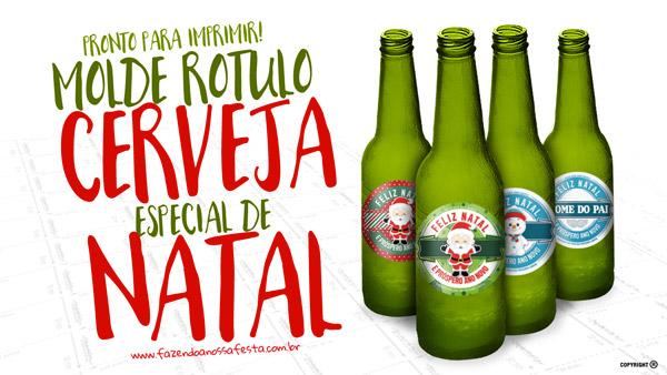 Rótulo Personalizado Cerveja para Natal