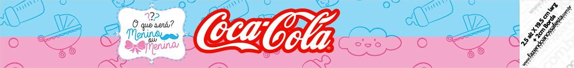 Rótulo Coca Cola Chá de Revelação