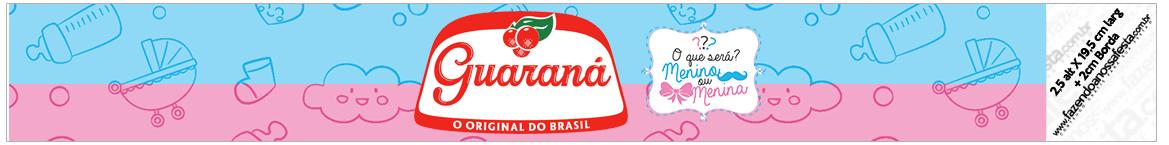 Rótulo Guaraná festa chá de revelação