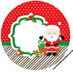 Rótulo Latinhas toppers e tubetes Natal Papai Noel