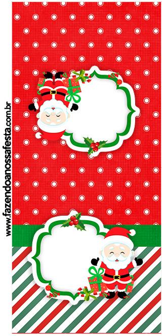 Rótulo Pirulito Natal Natal Papai Noel