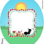 Rótulo Tubete Oval Kit Festa Picnic