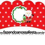 Saias Wrappers para Cupcakes 2 Natal Papai Noel