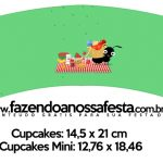 Saias Wrappers para Cupcakes Kit Festa Picnic