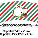 Saias Wrappers para Cupcakes Natal Papai Noel