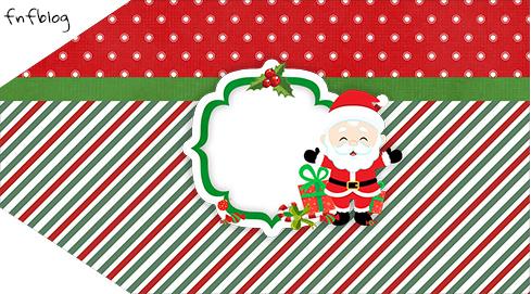 Tag Agradecimento Etiqueta Natal Papai Noel