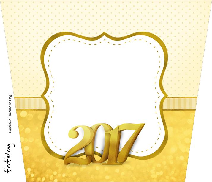Balde de Pipoca Ano Novo 2017