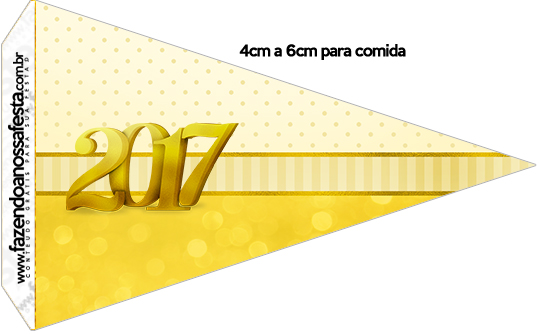 Bandeirinha Sanduíche 1 Kit Festa Ano Novo 2017