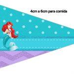 Bandeirinha Sanduiche 1 Pequena Sereia Ariel