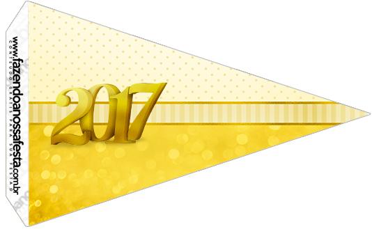 Bandeirinha Sanduíche 2 Kit Festa Ano Novo 2017