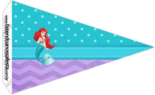 Bandeirinha Sanduiche 2 Pequena Sereia Ariel