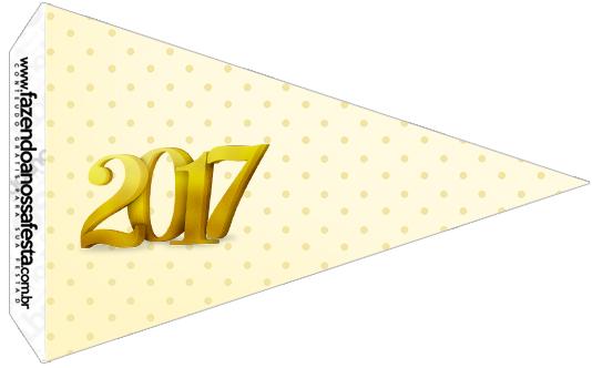 Bandeirinha Sanduíche 3 Kit Festa Ano Novo 2017