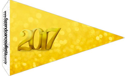 Bandeirinha Sanduíche 4 Kit Festa Ano Novo 2017