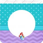 Bandeirinha Varalzinho Quadrada Pequena Sereia Ariel