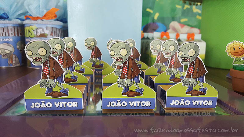 Bis 3D Festa Infantil Plants vs Zombies