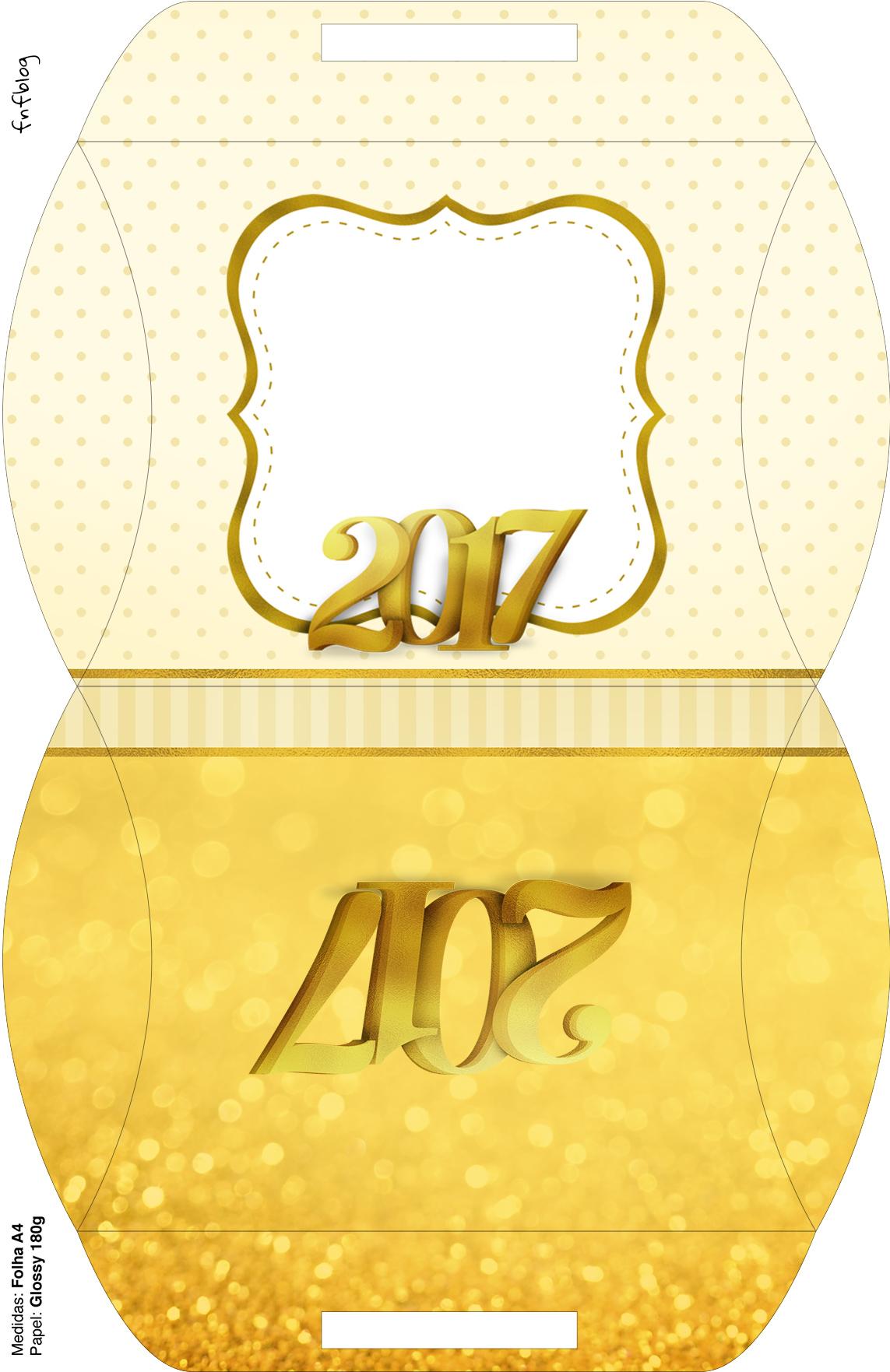 Bolsinha para lembrancinha Kit Festa Ano Novo