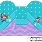 Caixa Coração Kit Festa Pequena Sereia