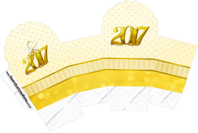 Caixa Cupcake Ano Novo 2017