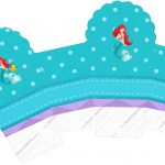 Caixa Cupcake Kit Festa Pequena Sereia