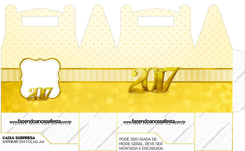 Caixa lembrancinha Ano Novo 2017