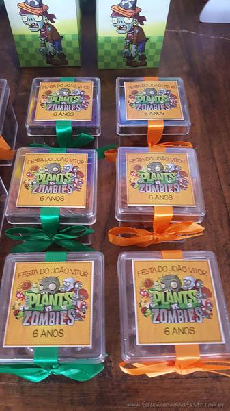 Caixinha festa infantil Festa Infantil Plants vs Zombies