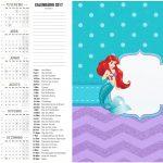 Calendário 2017 Kit Festa Pequena Sereia Ariel