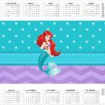 Calendário 2017 2 Kit Festa Pequena Sereia Ariel
