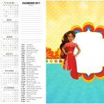 Calendário 2017 2 Elena de Avalor
