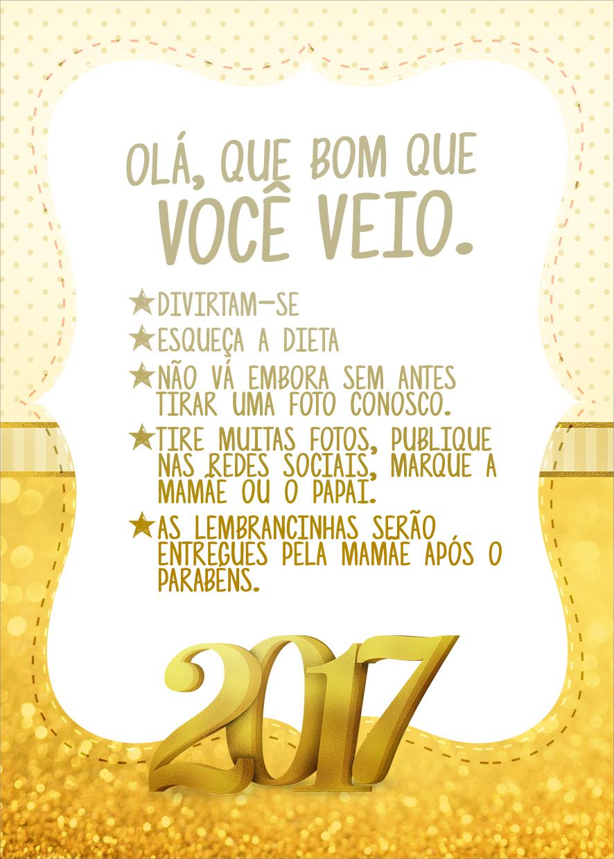 Cartão Agradecimento Quadro Ano Novo 2017