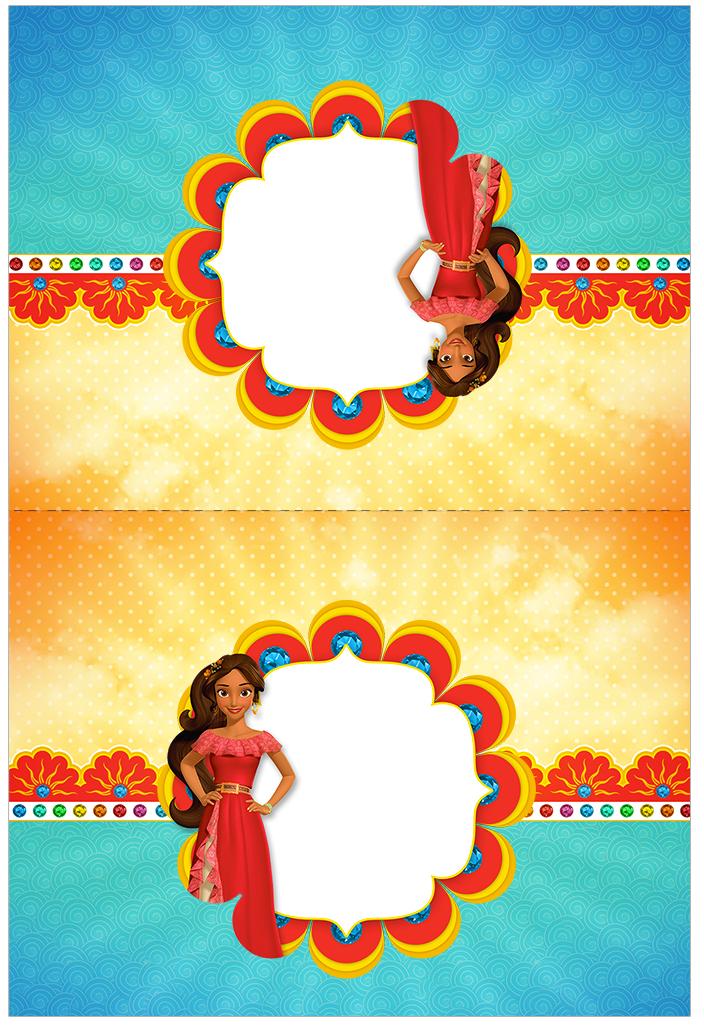 Cartão Agradecimento de mesa Elena de Avalor