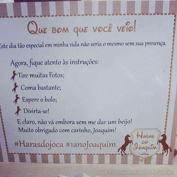 Cartão Festa Haras do Joaquim