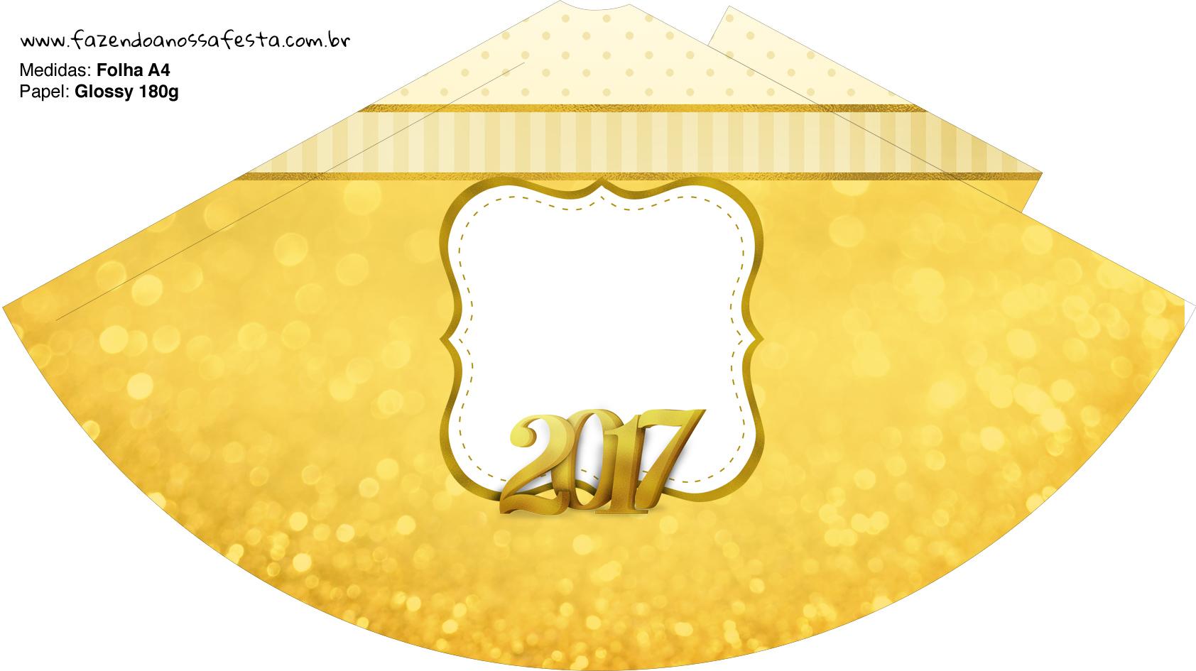 Chapeuzinho de festa Ano Novo 2017