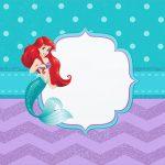 Molde para Cofrinho Pequena Sereia Ariel