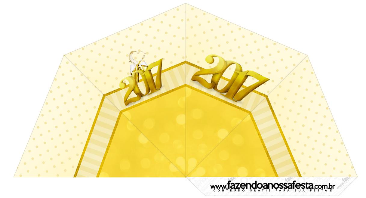 Cone Guloseimas 4 lados Ano Novo 2017