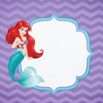 Convite Pequena Sereia Ariel 3