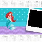 Convite Calendário 2017 2 Pequena Sereia