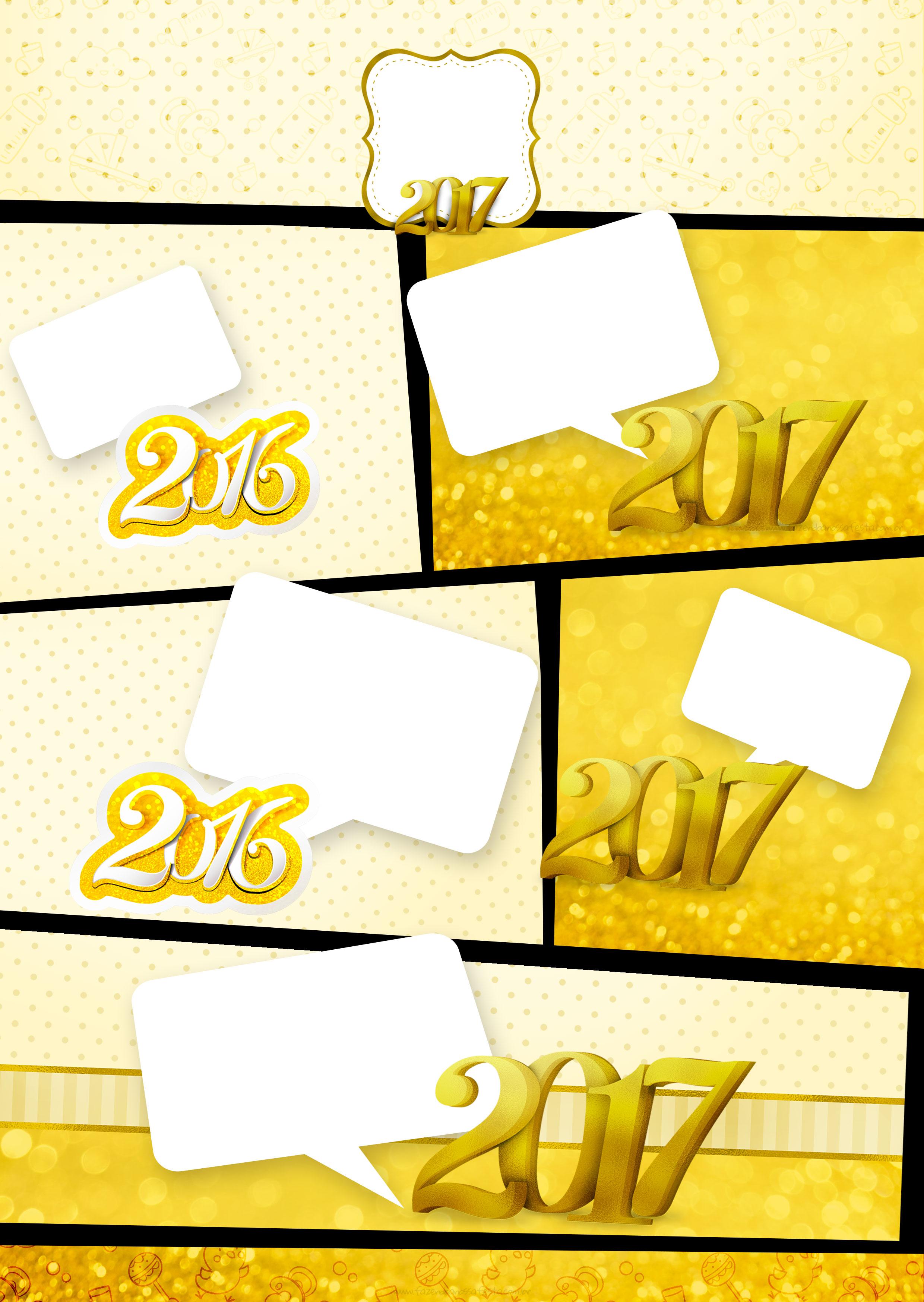 Convite Gibi Ano Novo 2017