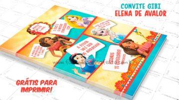 Convite Gibi Elena de Avalor Modelo 2