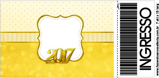 Convite Ingresso Ano Novo 2017