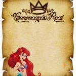 Convite Pergaminho Pequena Sereia 2