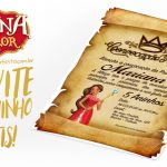 Convite Pergaminho Princesa Elena de Avalor Modelo