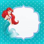 Convite ou Moldura Pequena Sereia Ariel